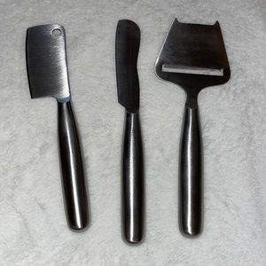 Kitchen three sets of cheese knives